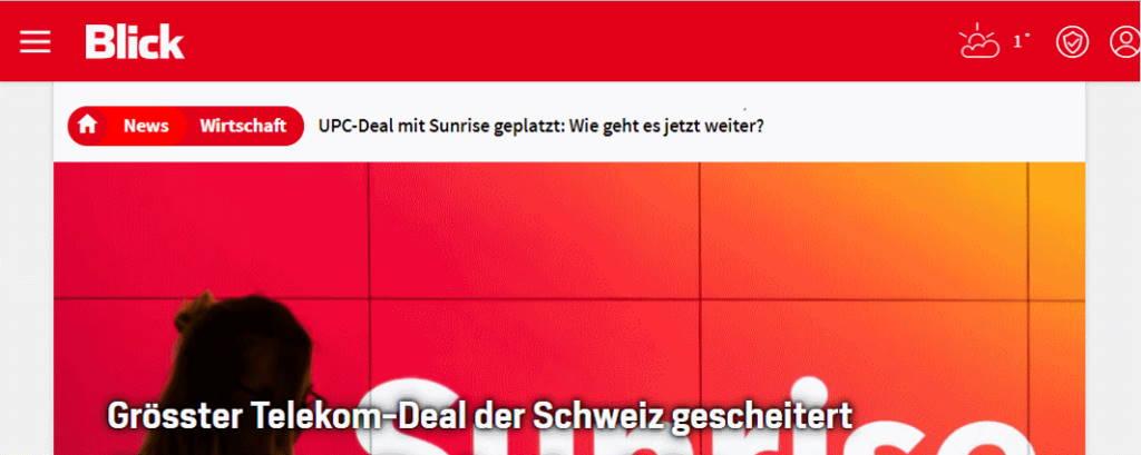 Auch der Block schreibt über den geplatzen Deal