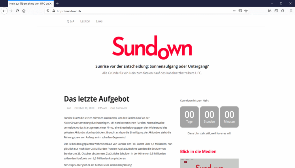 Sundown online