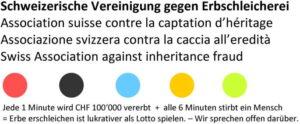 Schweizerische Vereinigung gegen Erbschleicherei ist ein Kunde von 60francs.ch